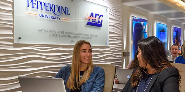 Pepperdine AEG classroom at Staples Center