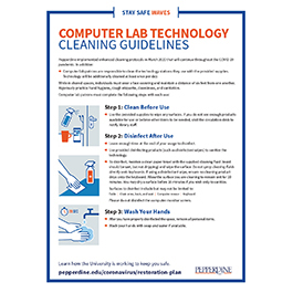 computer Lab Cleaning Guidelines