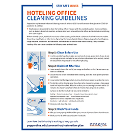 Hoteling Office Cleaning Guidelines