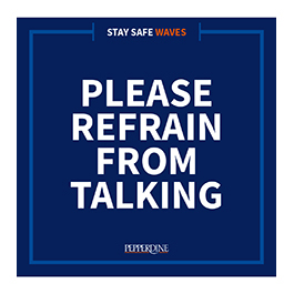 refrain from talking