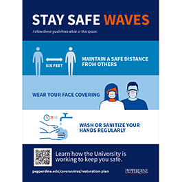 Stay Safe Wave Campaign Poster