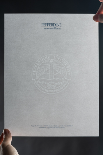 Pepperdine University Letterhead