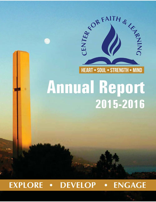 2015-2016 annual report of Center for Faith and Learning