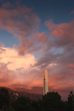 Theme Tower at sunset - Pepperdine University