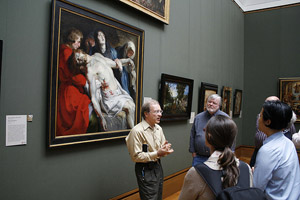 Michael Zakian leads Getty Center tour