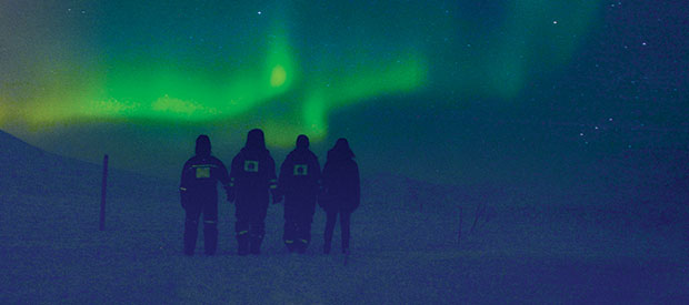Students research trip to Norway, witnessing the aurora borealis