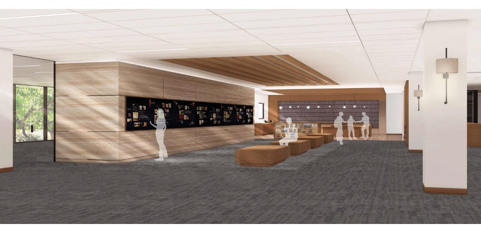 A 3D rendering of the upcoming Payson library renovations