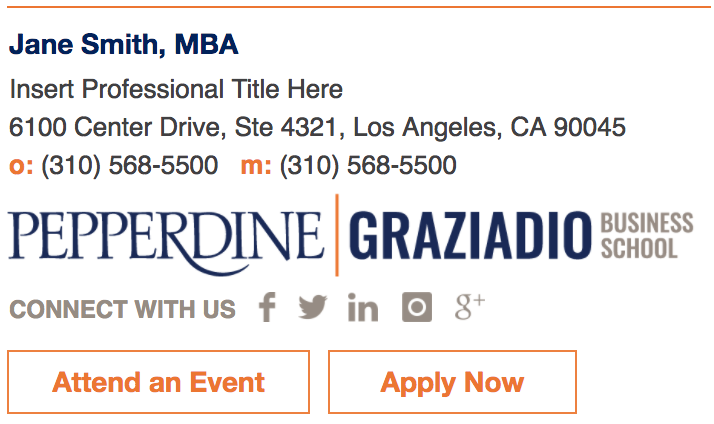 Gmail Signature Templates | Graziadio | Pepperdine University ...