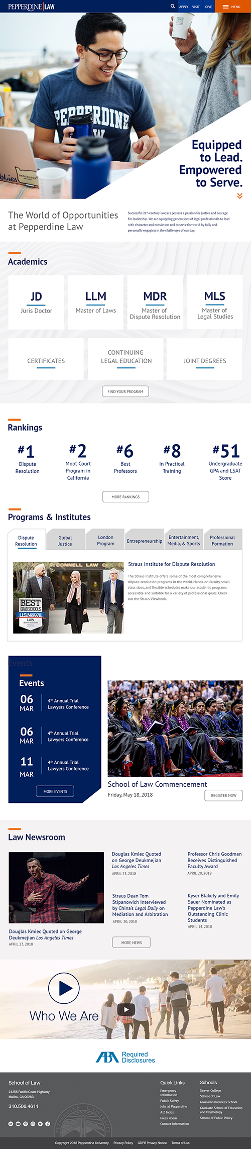 Caruso School of Law Refresh Homepage