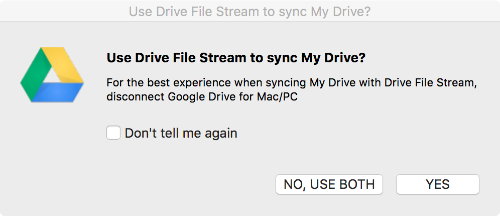 Sync File Stream with My Drive