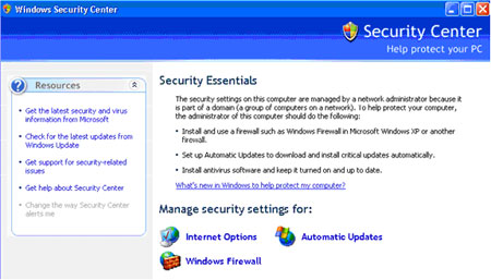 Personal Firewall for Windows Setup Screen 1