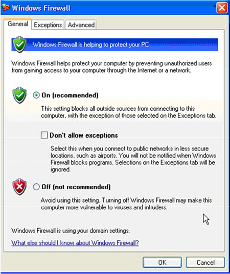 Personal Firewall for Windows Setup Screen 2