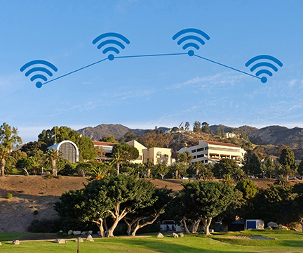 Pepperdine Mailbu wireless network