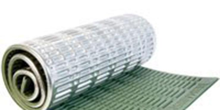 Stock image of a rolled up, green Thermarest sleeping page