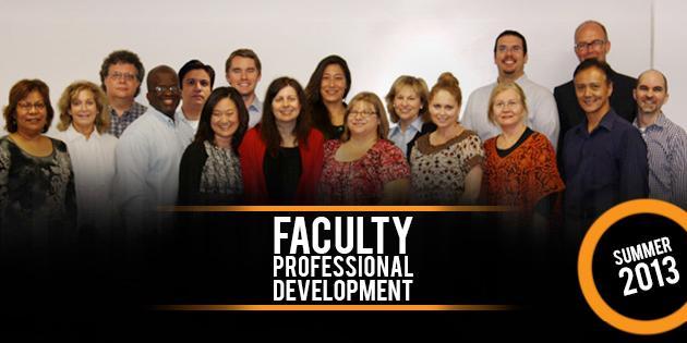 Faculty Professional Development Summer 2013