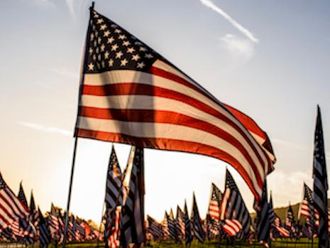 The Waves of Flags installation is open to the public for viewing and visitation at the corner of Pacific Coast Highway and Malibu Canyon Road until September 24, 2018.
