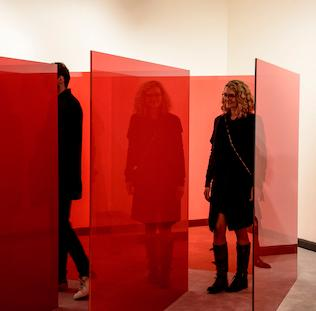 Larry Bell: Pacific Red features a historical survey of Larry Bell's art from the late 1950s and 1960s as well as an exciting, new installation designed especially for the Weisman Museum. It will be on display from January 21 through April 2.