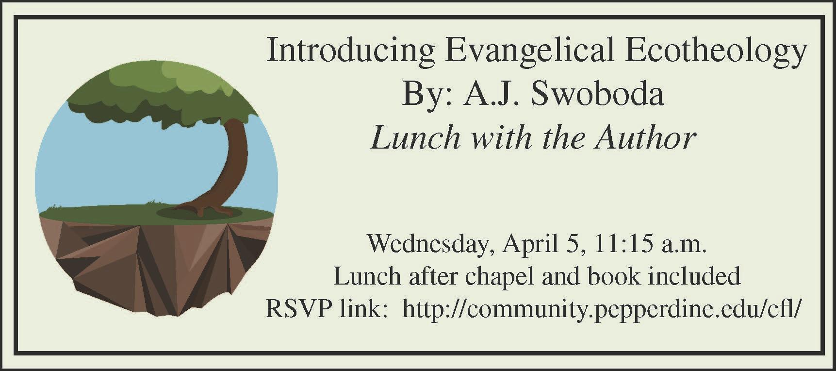 Evangelical Ecotheology Lunch with the Author