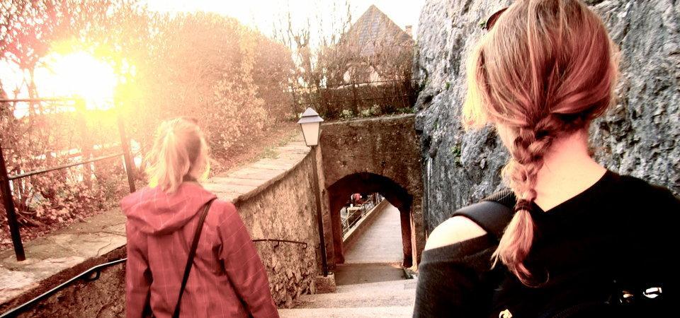 Two Pepperdine students in Lausanne, Switzerland
