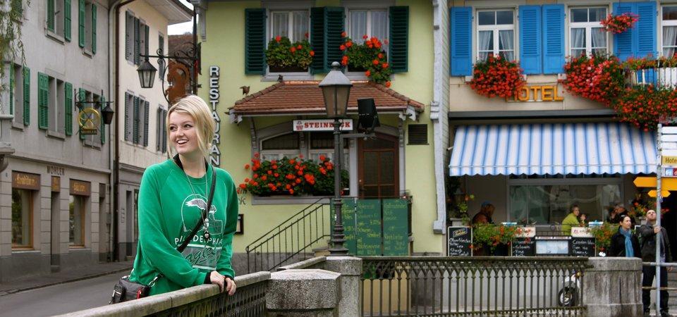 Pepperdine student in Lausanne, Switzerland