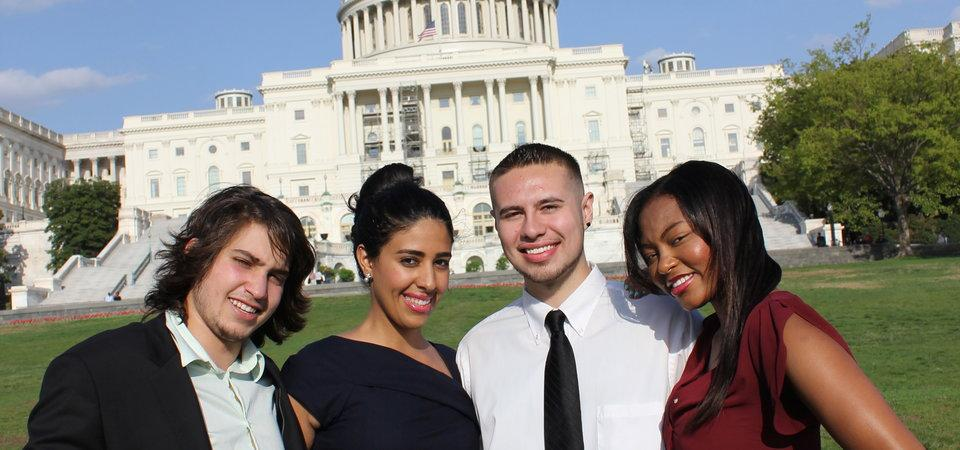 Pepperdine students in Wahsington, D.C. at the Capitol
