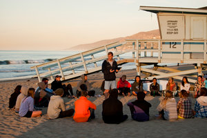 Pepperdine University Surf Chapel at the beach