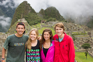 Pepperdine University students abroad through international programs