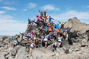group of Pepperdine IP students on mountain