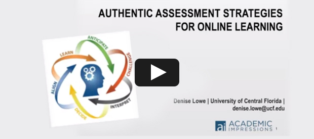 Authentic Assessment Strategies for Online Learning