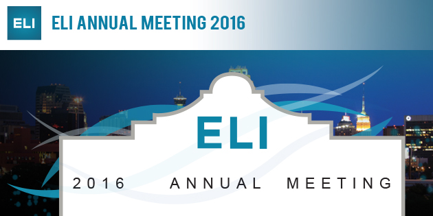 The 2016 ELI Conference