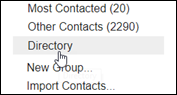 Image of Directory link in left menu of Contacts