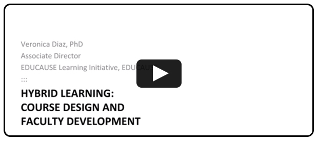 Hybrid Learning Course Design and Faculty Development