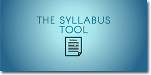 The Syllabus Tool