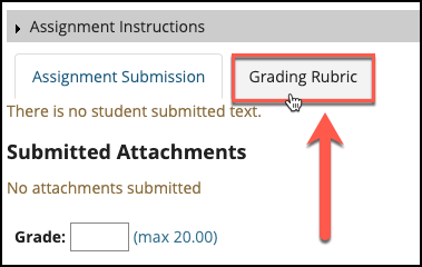 Sakai Assignments Grade With Rubric Image
